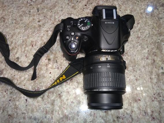 Câmera Fotografia Nikon D5200 + Lente Nikon Dx 18-55mm
