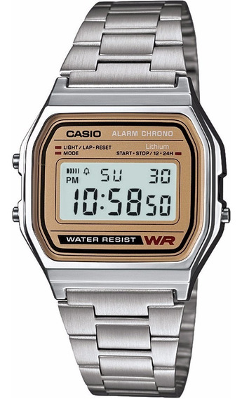 Reloj Casio Vintage Original A158wea-9vt Time Square