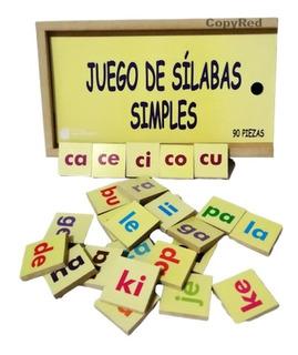 Juego De Sílabas Simples 90 Piezas Didáctico