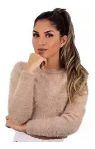 Blusa Cropped Pelinho Feminina Outono Inverno 2019
