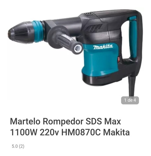 Imagem 1 de 1 de  Martelo Rompedor Sds Max ,1100w 220v  Hm0870 C Makita