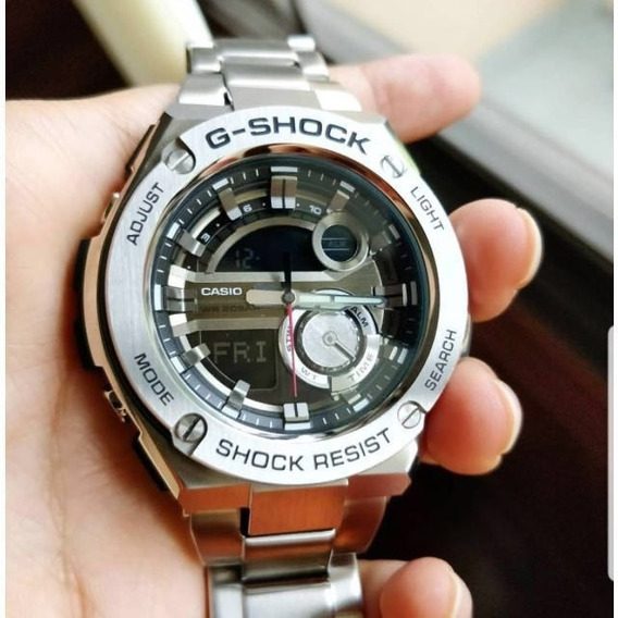 Casio G-shock Gst-210d-1a De Acero Inoxidable Análogico