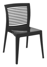 02 Cadeira Victória Encosto Vazado Hz Preta Tramontina