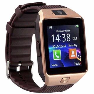 Relogio Smart Watch Dz09 Android Chip Bluetooth Dourado