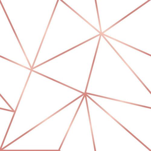 Adesivo De Parede Zara Rosê Gold Para Sala Recepção Hall 10m
