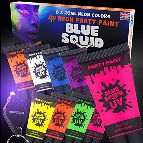 Blue Squid - Pintura Para Rostro Y Cuerpo Uvbrilla En La