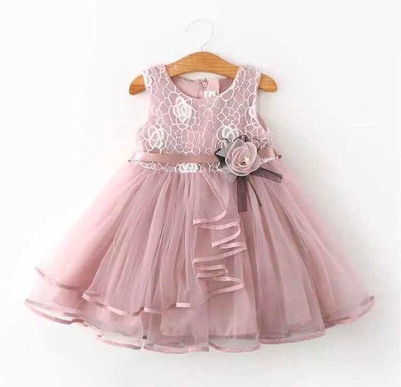 Vestido Nena Con Encaje Cumple Casamiento Fiesta Importados