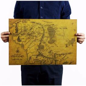 Poster Mapa Terra Média O Senhor Dos Anéis J. R. R. Tolkien