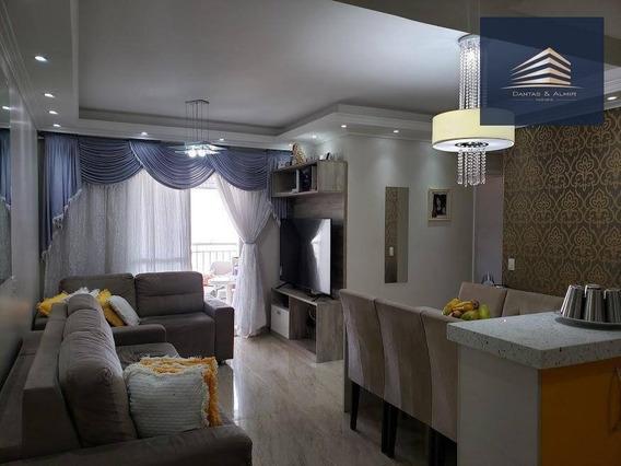 Apartamento Com 3 Dormitórios À Venda, 78 M² Por R$ 495.000 - Vila Augusta - Guarulhos/sp - Ap0802
