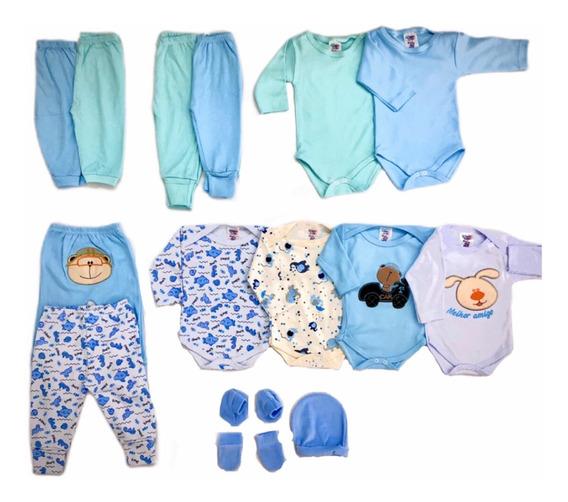 Kit Bebê Body Inverno 15 Pças Menino Ou Menina