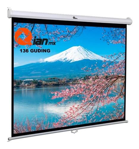 Imagen 1 de 3 de Pantalla Proyeccion Qian Qianguding 136 Blanca Qpg-69504