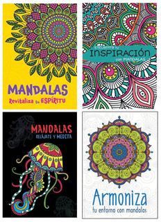Mandalas - 4 Libros - Envío Incluido