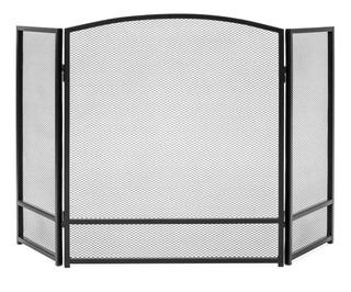 Chimenea De Metal De 3 Paneles Con Pantalla De Malla