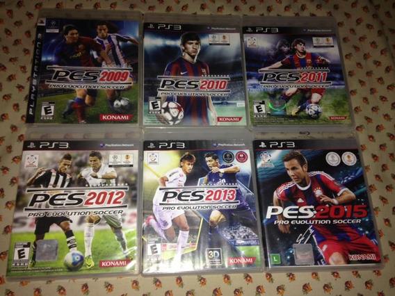 6 Jogos Pes Pro Evolution Soccer Ps3 Konami Mídia Física 199