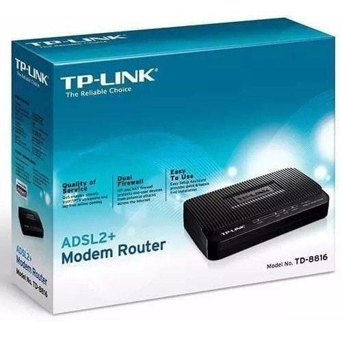 Modem Roteador Tp Link Adsl2+ Td-8816