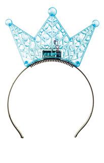 Tiara Acessório Carnaval Coroa Princesa Com Luz Led Azul