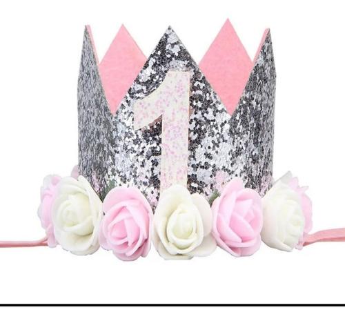 Corona De Cumpleaños Flores Balaca Cintillo Tocado Vincha