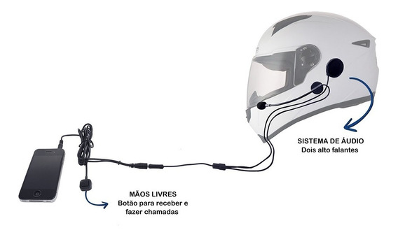 Intercomunicador Comunicador Radio Moto Capacete Universal