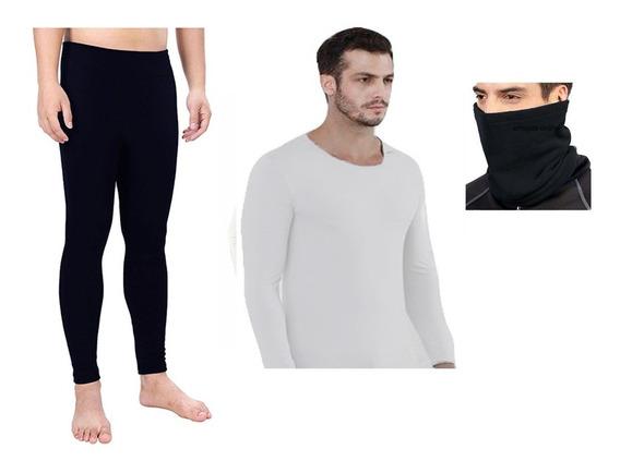 Combo X3 Ropa Termica Hombre Pantalon Buso Cuello Invierno