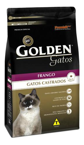 Ração Golden Premium Especial Castrados para gato adulto sabor frango em saco de 10.1kg
