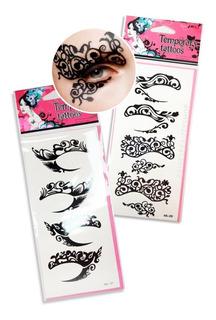 Pack X3 Planchas De Tatuajes Temporales Para Ojos Tattoos