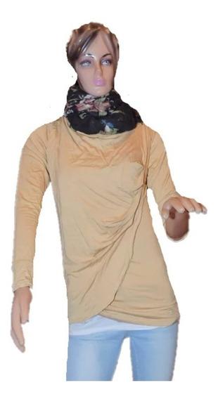 Paula Cahen Danvers Remera Casual Color Camel Promo