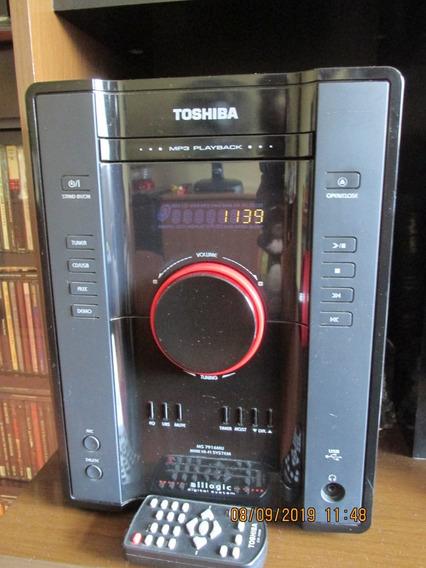 Aparelho De Som Mini System Toshiba Usb Ms7916 Cd