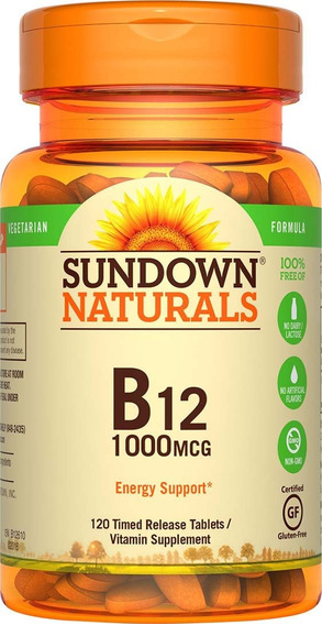 Vitamina B12 1000 Mcg, 120 Tab (ccs Y Val) A_10 Vrd