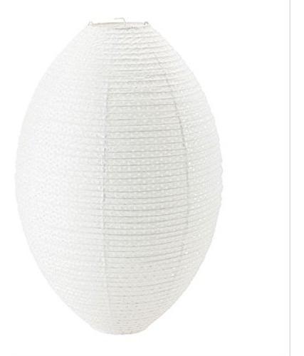 Lampara Colgante Pantalla De Papel Arroz Ovalada 48cm