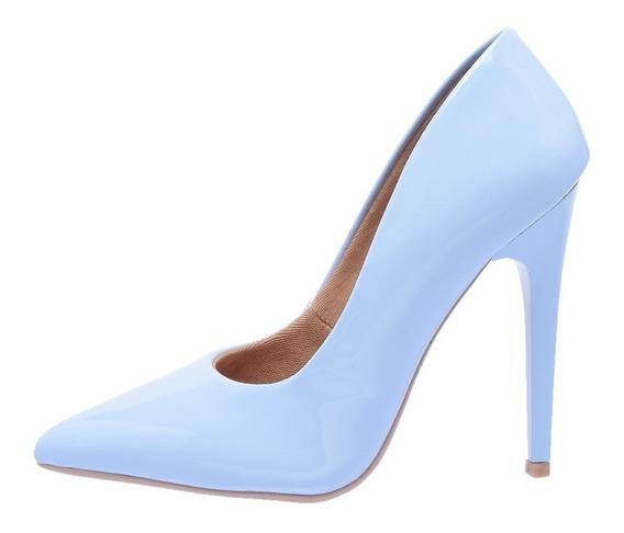 Sapato Scarpin 7101 Feminino Em Verniz