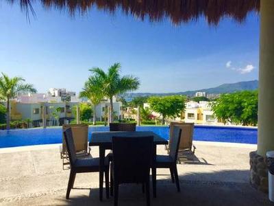 (crm-1399-295) Renta Vacacional. Casa Cerca De Playa En Coto Con Alberca (casa Leo)