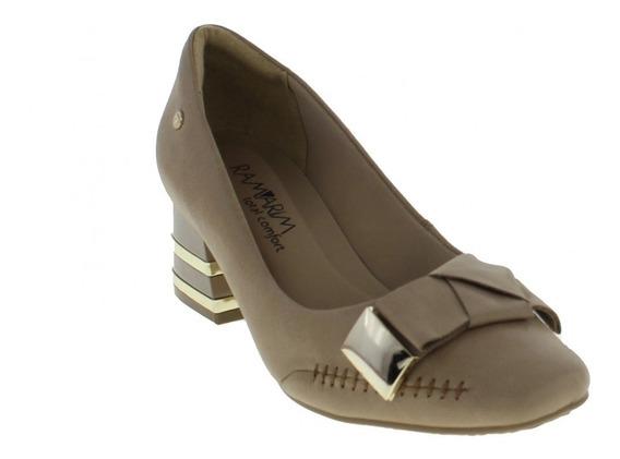 Sapato Social Feminino Ramarim 1895102 Com Salto Baixo 2018