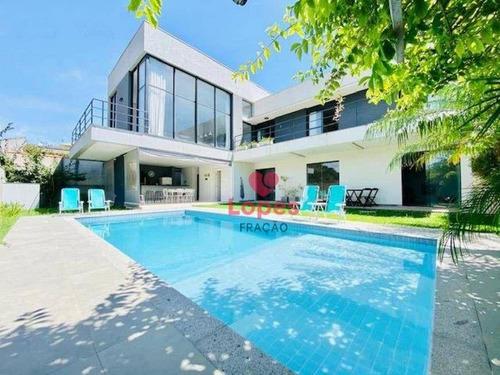 Imagem 1 de 21 de Casa De Arquitetura Moderna Em Atibaia - So0508