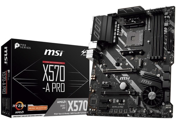Placa Mãe Msi X570-a Pro Amd Am4 Ddr4 Ryzen Atx X570