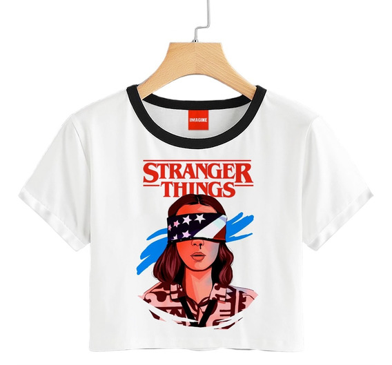 Blusa Dama Stranger Things Playera Eleven Once Crop #696