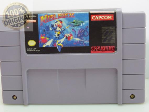 Cd 252 Mega Man X Snes Original Super Nintendo Cartucho