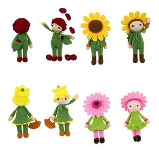 Pack 4 Patrones Amigurumis Mini Muñecas Español
