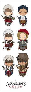 Plancha De Stickers De Assassin