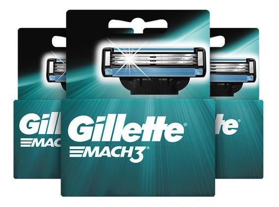 Pack X 3 Gillette Mach3 Cartuchos Para Afeitar De 2 Unidades