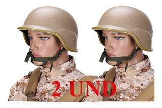 Casco Militar Swat Replicas Airsoft Abs Pack X2 / Kortes