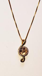 Conjunto Juego Aretes Collares Collar Colgante Goldplated