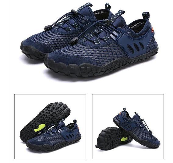 Men Breathable Aqua Shoes Flat Footwear Outdoor Seaside Elas