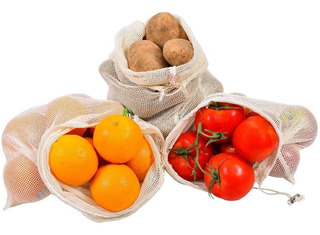 10 Bolsas Reutilizables Ecológica Frutas Y Verduras Med