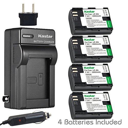 Cargador Y Batería Kastar 4x Para Canon Lp-e6 Lp-e6n, Canon
