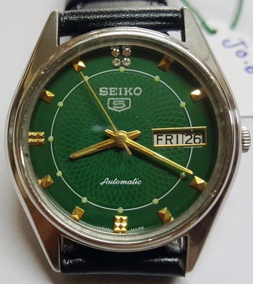 Relógio Seiko 5 Japan 23 Jewels - Mostrador Verde Musgo Ok!