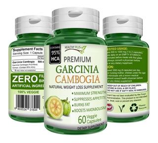 Garcinia Cambogia 60 Capsulas 1 Frasco Quema Grasas Premium