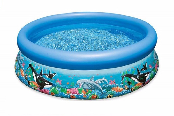 Pileta Inflable Intex 366 X 76 Cm Ocean Reef Easy + Inflador