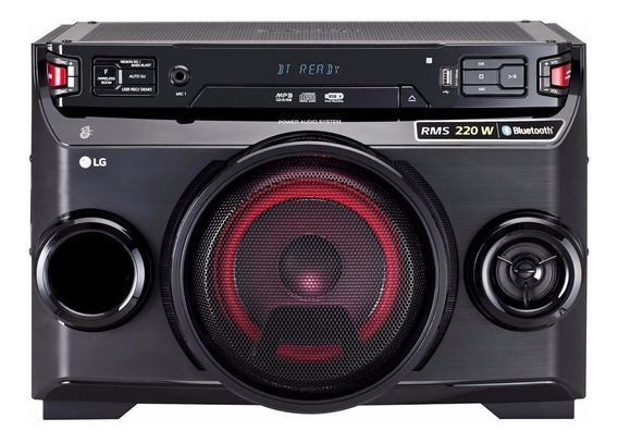 Mini System Lg Om4560 Karaokê ,cd,cdr,mp3 E Wma Bluetooth