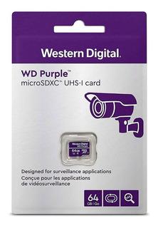 Memoria Micro Sd 64gb Western Digital Clase 10 U1 Videovigilancia
