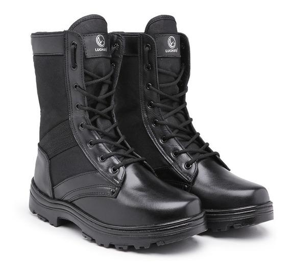Coturno Militar Kit Com 10 Pares Em Couro 3384